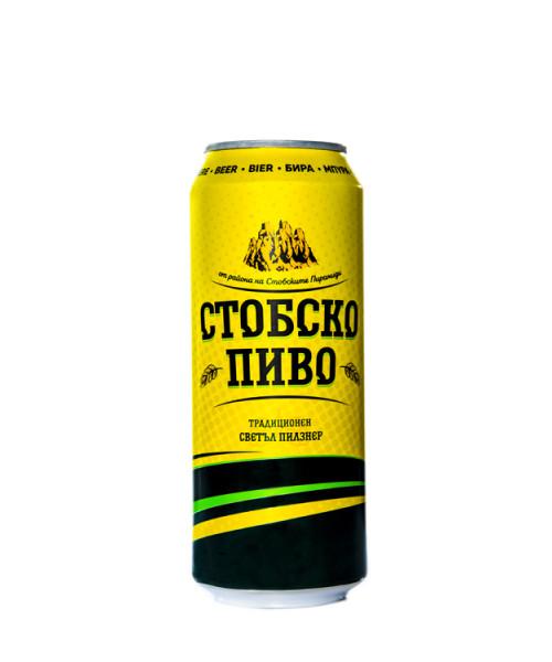 Стобско Пиво 4% Бира в кен от 0.500л. – 6 бр. в стек